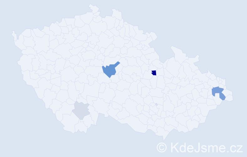 Příjmení: 'Hrišková', počet výskytů 11 v celé ČR