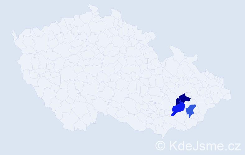 Příjmení: 'Huličník', počet výskytů 7 v celé ČR