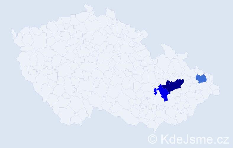 Příjmení: 'Eggová', počet výskytů 13 v celé ČR