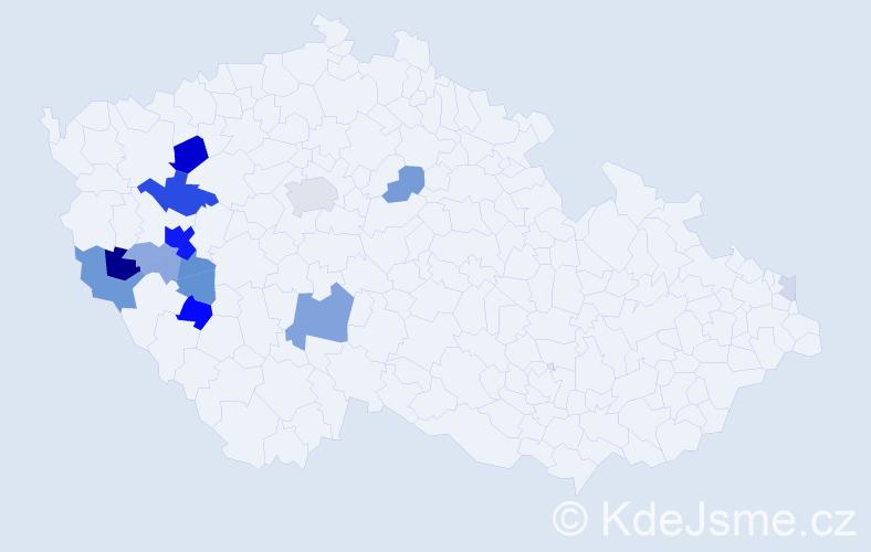 Příjmení: 'Chejlava', počet výskytů 50 v celé ČR