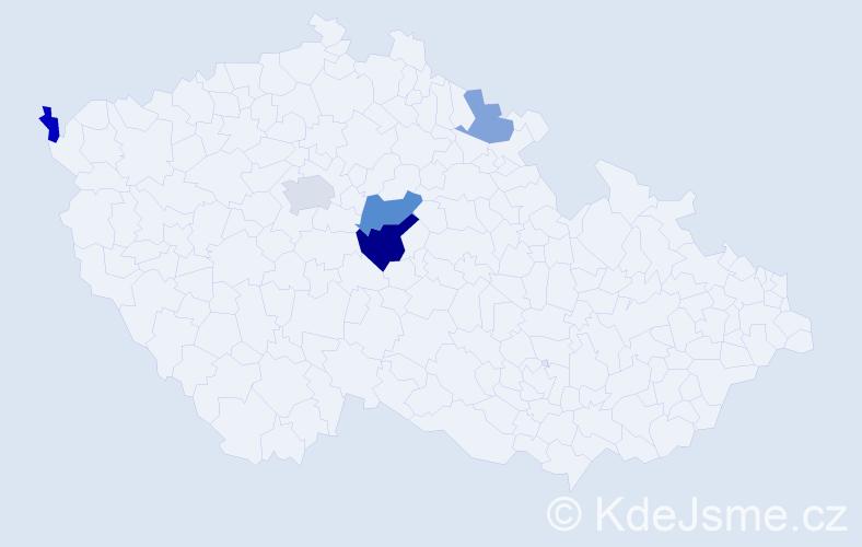 Příjmení: 'Bertram', počet výskytů 9 v celé ČR