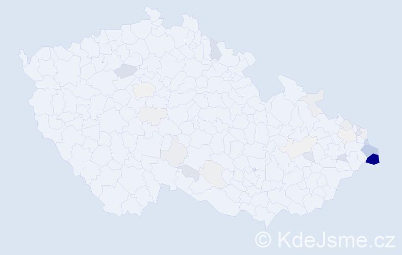 Příjmení: 'Hamroziová', počet výskytů 87 v celé ČR