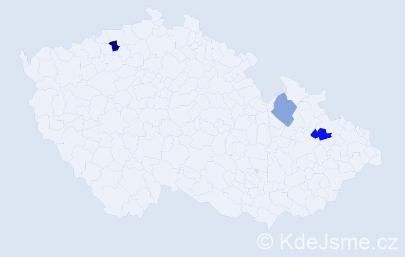 Příjmení: 'Dvížová', počet výskytů 9 v celé ČR