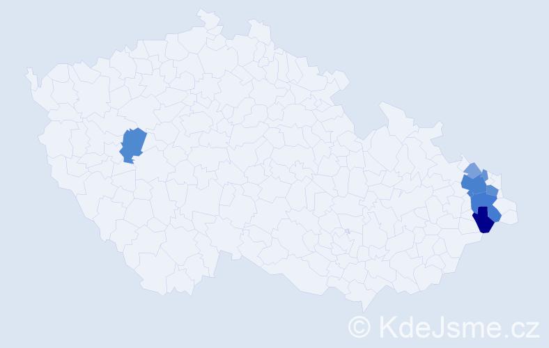 Příjmení: 'Branichová', počet výskytů 22 v celé ČR