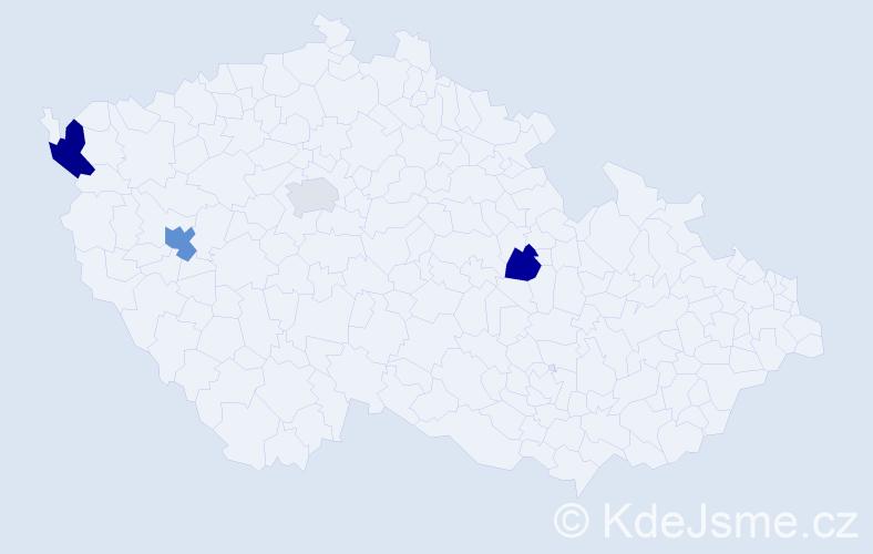 Příjmení: 'Hossain', počet výskytů 6 v celé ČR
