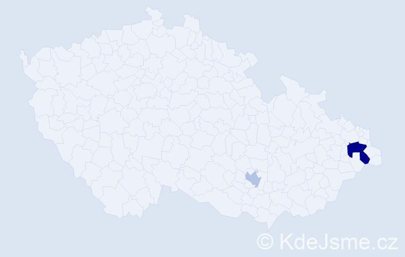 Příjmení: 'Černoevič', počet výskytů 4 v celé ČR