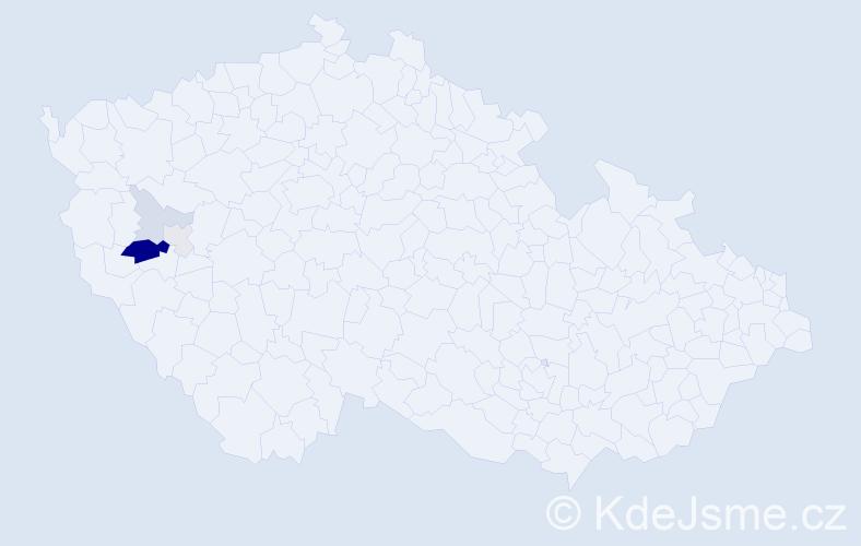 Příjmení: 'Gallivoda', počet výskytů 10 v celé ČR