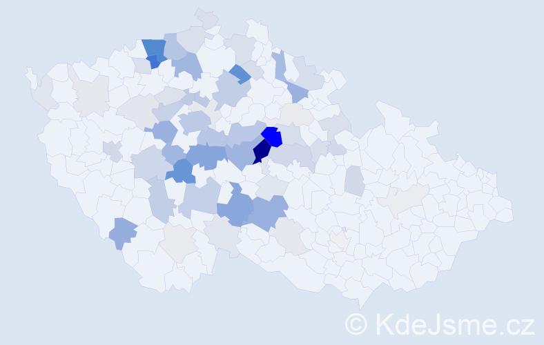 Příjmení: 'Fíla', počet výskytů 238 v celé ČR
