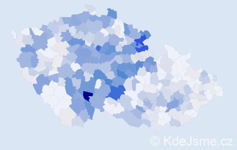 Příjmení: 'Čápová', počet výskytů 1842 v celé ČR