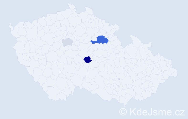 Příjmení: 'Zdechovský', počet výskytů 6 v celé ČR