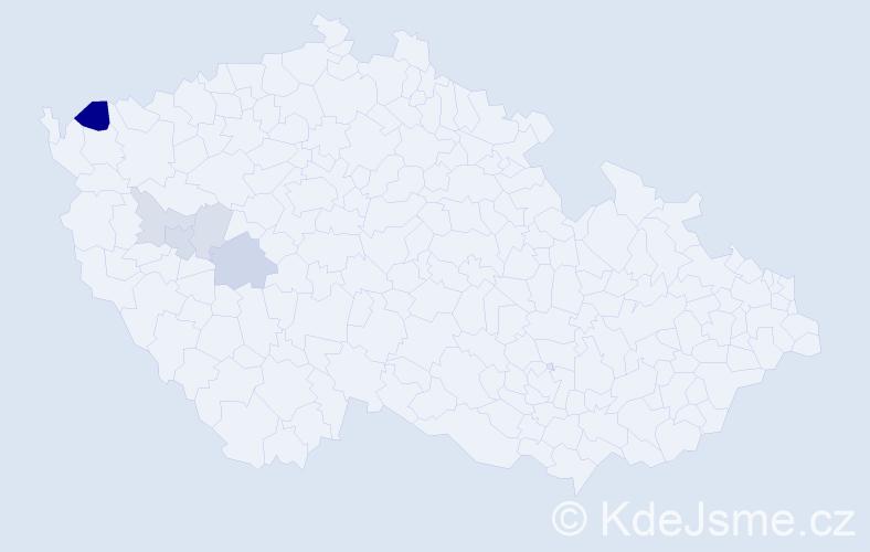 Příjmení: 'Čeporanová', počet výskytů 13 v celé ČR