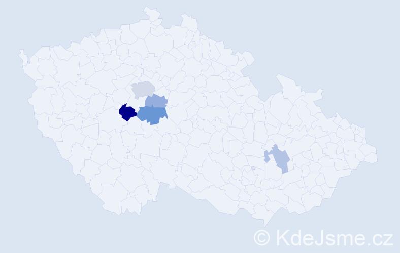 Příjmení: 'Erbek', počet výskytů 10 v celé ČR