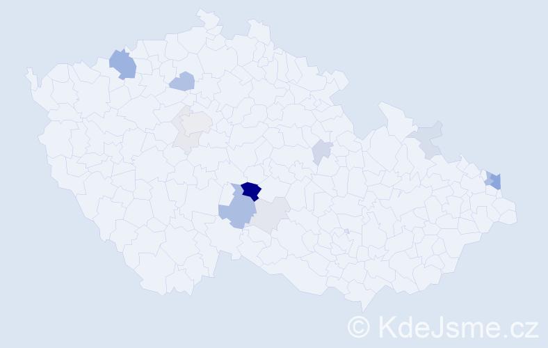Příjmení: 'Jančičková', počet výskytů 37 v celé ČR