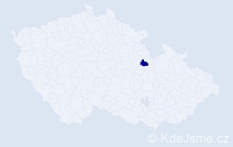 Příjmení: 'Bániková', počet výskytů 4 v celé ČR