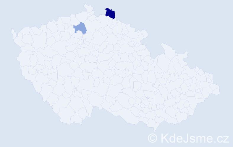 Příjmení: 'Ceithamelová', počet výskytů 3 v celé ČR