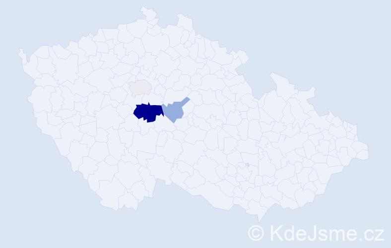 Příjmení: 'Jaszová', počet výskytů 8 v celé ČR
