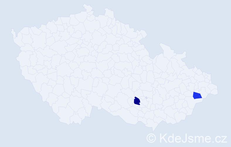 Příjmení: 'Idziorová', počet výskytů 2 v celé ČR