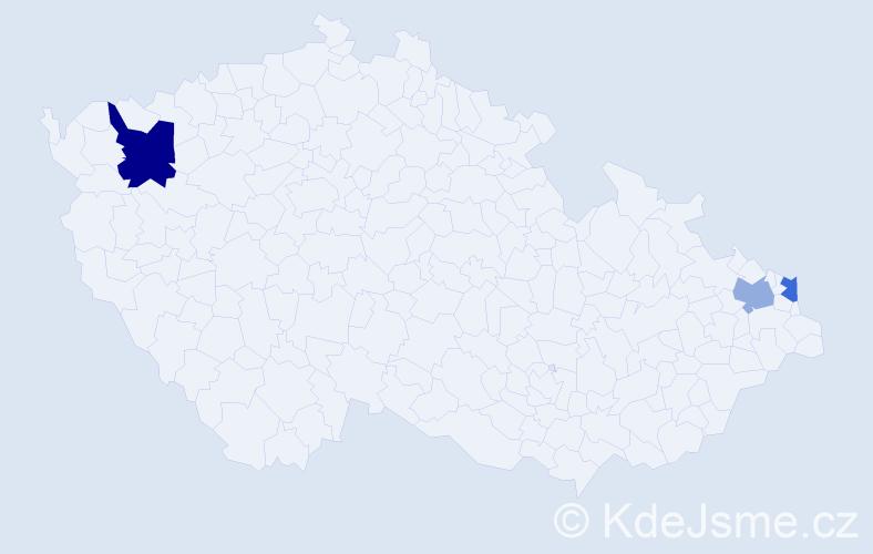 Příjmení: 'Darula', počet výskytů 4 v celé ČR