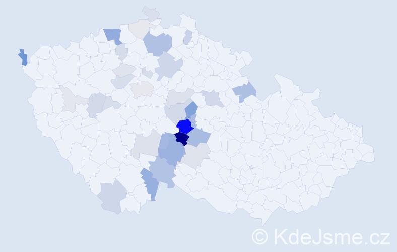 Příjmení: 'Lepešková', počet výskytů 109 v celé ČR