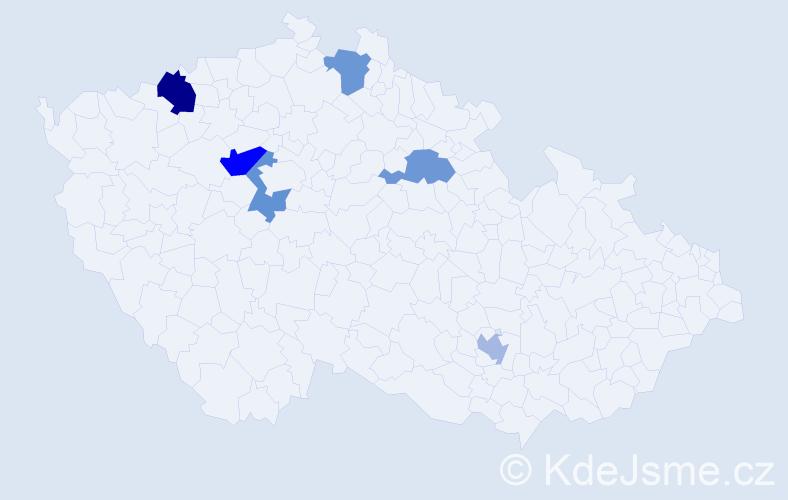 Příjmení: 'Fršlínek', počet výskytů 8 v celé ČR