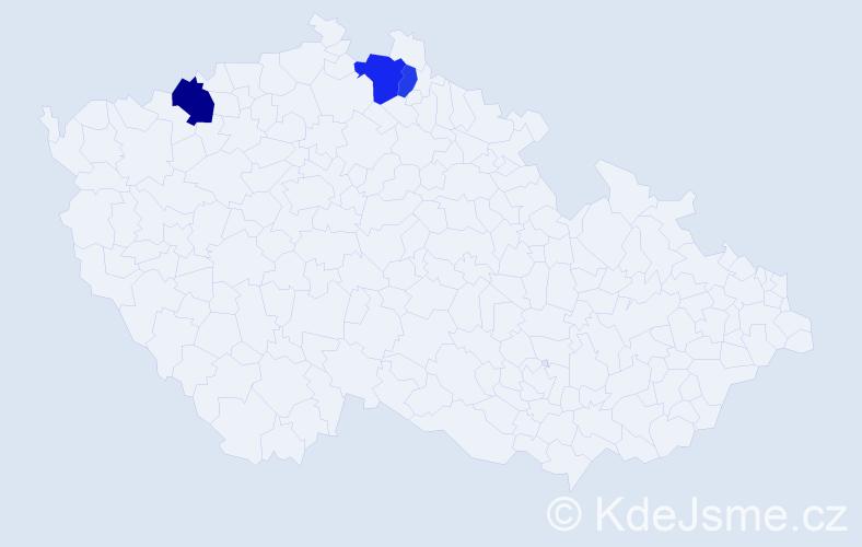 Příjmení: 'Jäschkeová', počet výskytů 5 v celé ČR