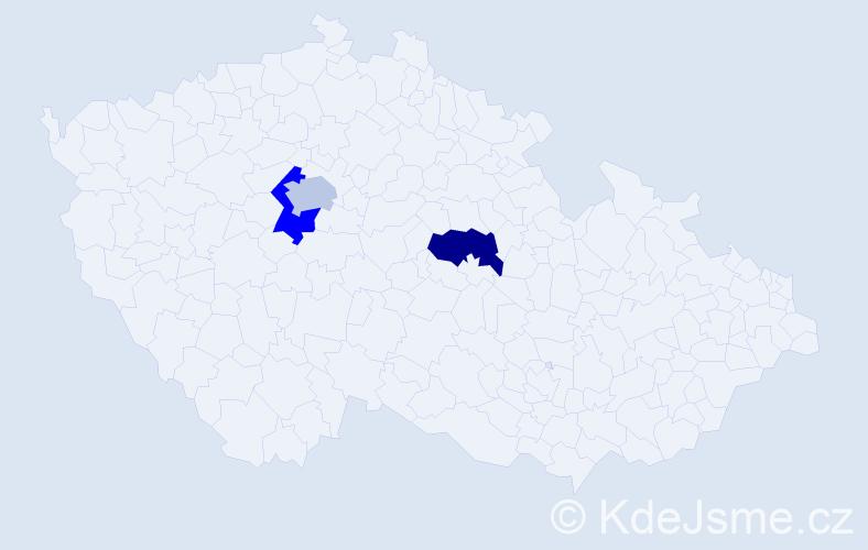 Příjmení: 'Karasiewicz', počet výskytů 3 v celé ČR
