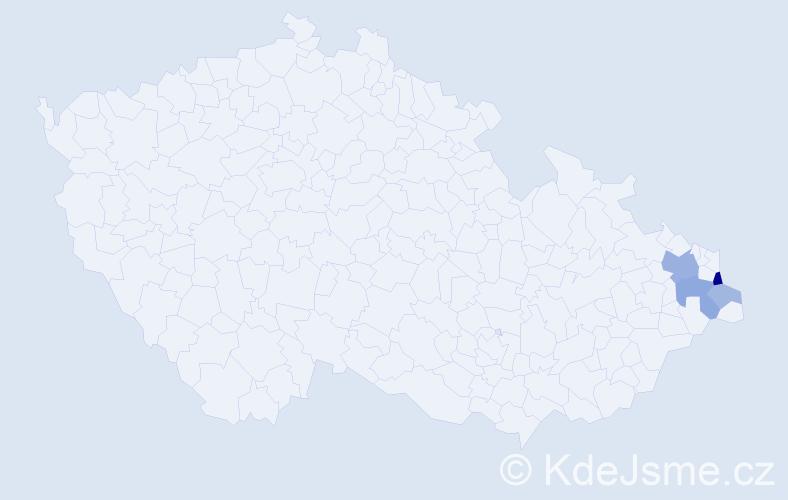 Příjmení: 'Gazurek', počet výskytů 10 v celé ČR