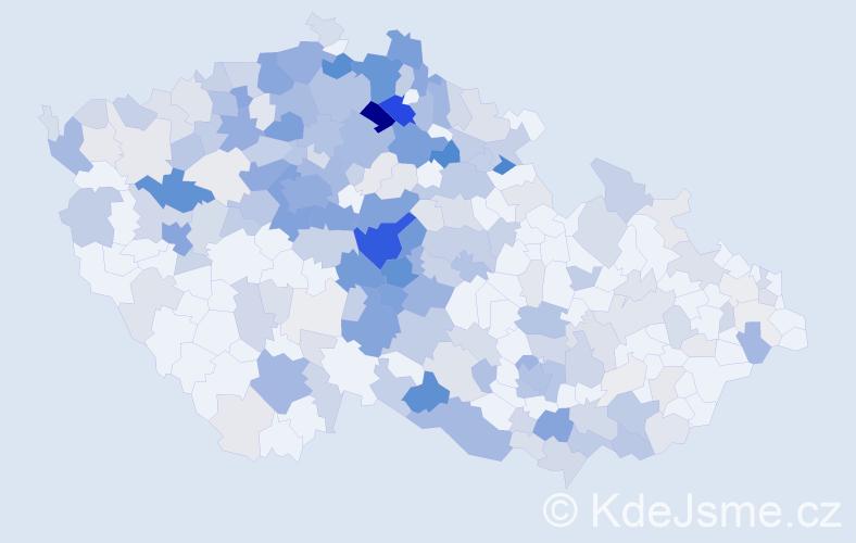 Příjmení: 'Fantová', počet výskytů 993 v celé ČR
