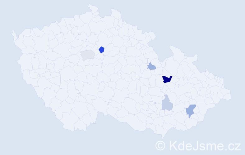 Příjmení: 'Castillo', počet výskytů 17 v celé ČR