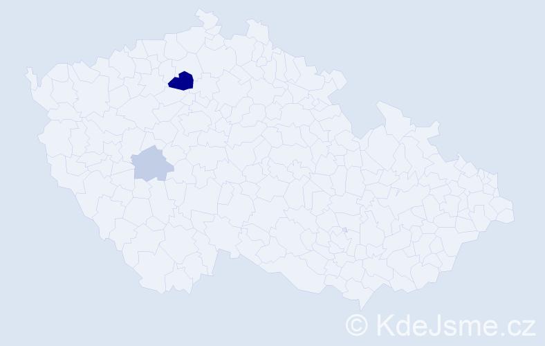 Příjmení: 'Dragoňová', počet výskytů 6 v celé ČR