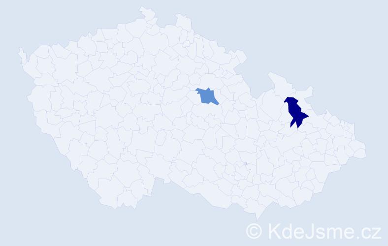 Příjmení: 'Čihalík', počet výskytů 2 v celé ČR