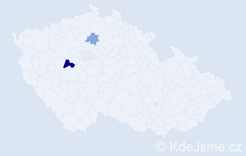 Příjmení: 'Crk', počet výskytů 16 v celé ČR