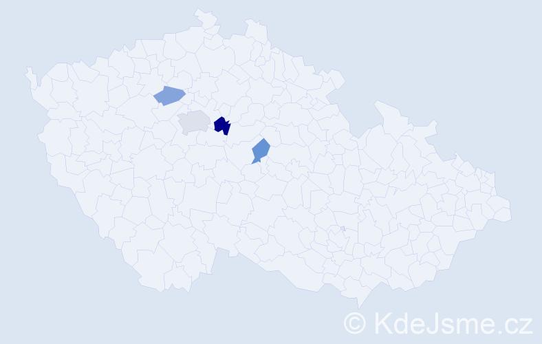 Příjmení: 'Barbor', počet výskytů 7 v celé ČR