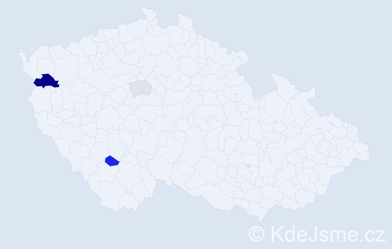 Příjmení: 'Achour', počet výskytů 7 v celé ČR