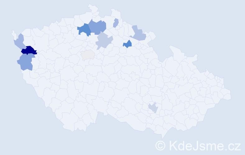 Příjmení: 'Aichler', počet výskytů 17 v celé ČR