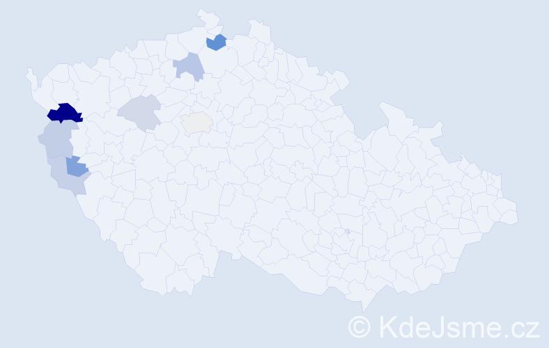 Příjmení: 'Baťko', počet výskytů 17 v celé ČR