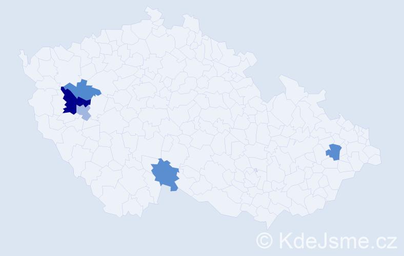 Příjmení: 'Kerecman', počet výskytů 12 v celé ČR