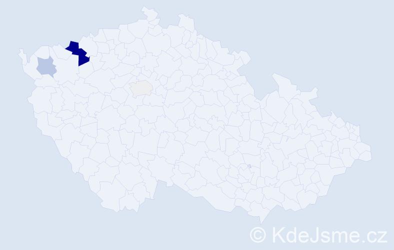 Příjmení: 'Ďurkovská', počet výskytů 14 v celé ČR
