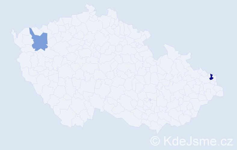 Příjmení: 'Latoš', počet výskytů 3 v celé ČR