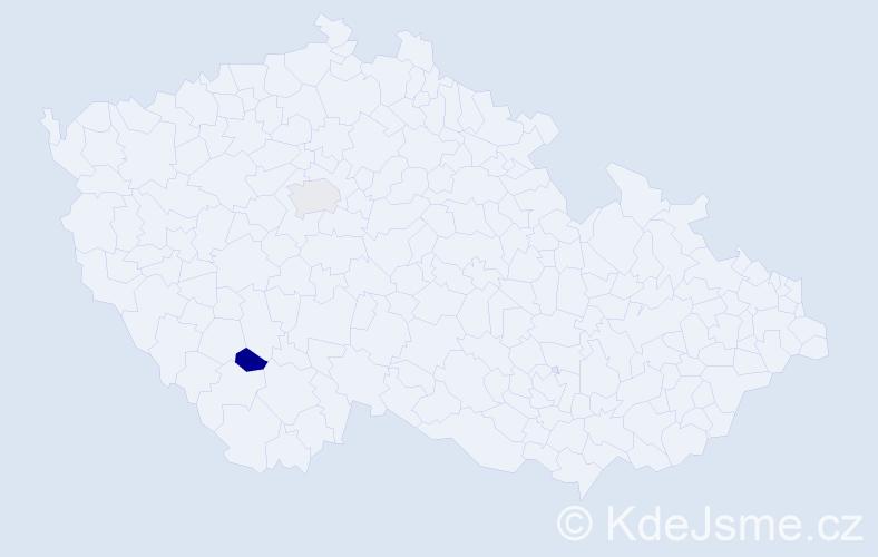 Příjmení: 'Chlopko', počet výskytů 2 v celé ČR