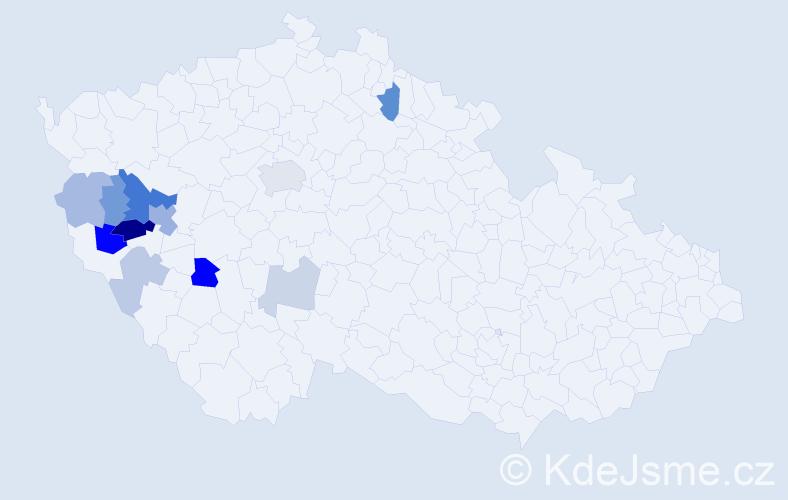 Příjmení: 'Kasten', počet výskytů 27 v celé ČR