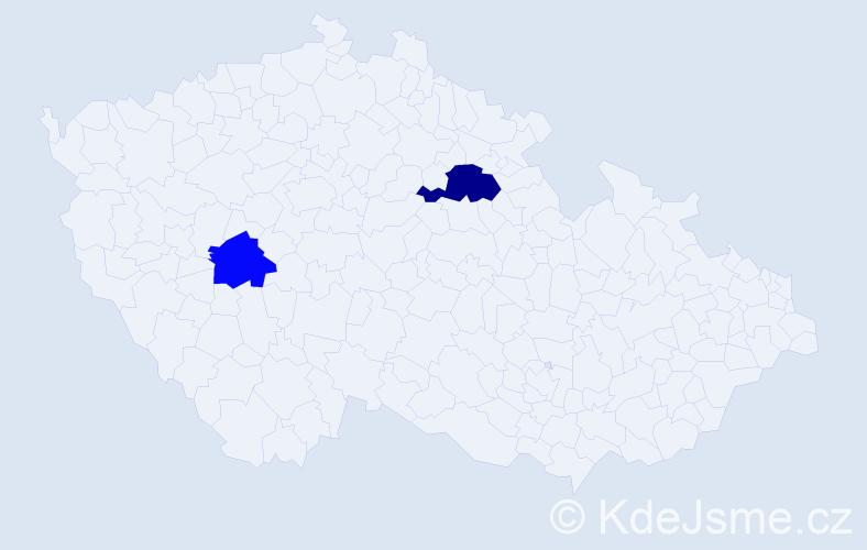 Příjmení: 'Dotsenko', počet výskytů 3 v celé ČR