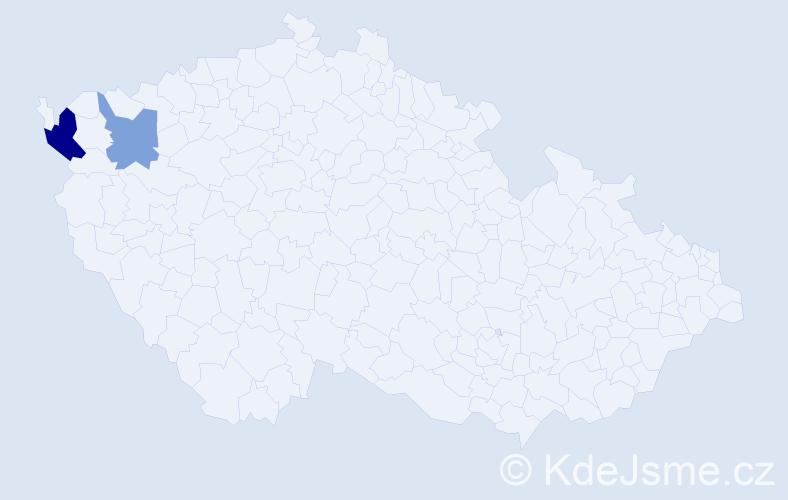 Příjmení: 'Dellinger', počet výskytů 7 v celé ČR