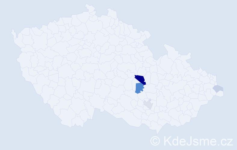 Příjmení: 'Faustková', počet výskytů 9 v celé ČR
