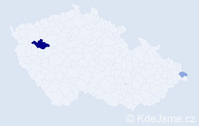 Příjmení: 'Epikaridis', počet výskytů 3 v celé ČR