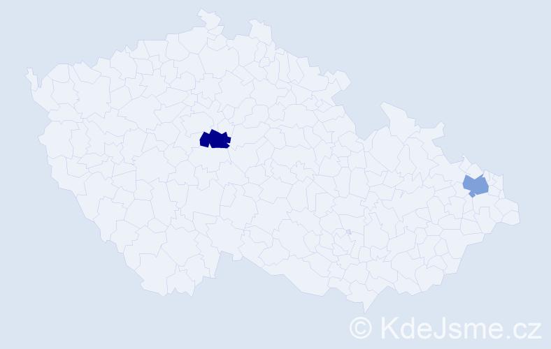 Příjmení: 'Abadžjanová', počet výskytů 4 v celé ČR