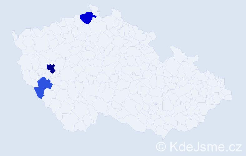 Příjmení: 'Henig', počet výskytů 7 v celé ČR