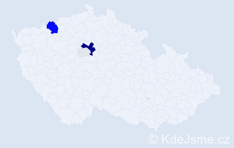 Příjmení: 'Kašubjaková', počet výskytů 8 v celé ČR