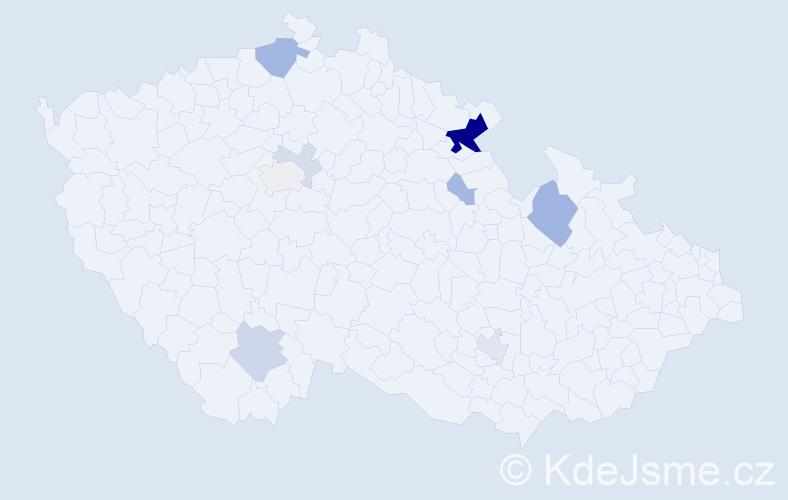 Příjmení: 'Gennert', počet výskytů 29 v celé ČR