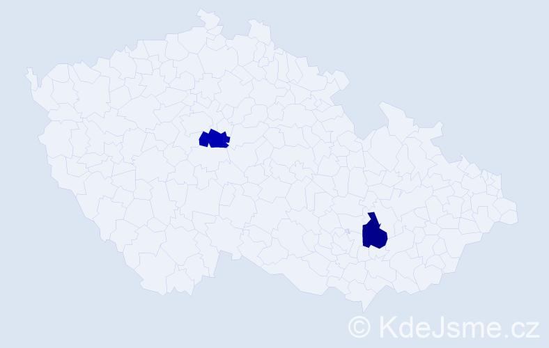 Příjmení: 'Imriška', počet výskytů 2 v celé ČR